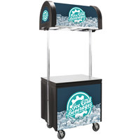IRP Vending Cart Jr. with Canopy - 39 inch x 30 inch x 90 1/2 inch