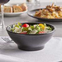 Tuxton BBB-2508 25 oz. Black China Menudo / Salad Bowl - 12/Case