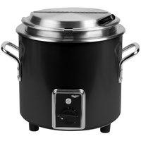 Vollrath 7217260 Black Finish Retro 11 Qt. Stock Pot Kettle Rethermalizer - 120V, 1450W