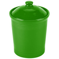 Homer Laughlin 573324 Fiesta Shamrock Large 3 Qt. Canister with Cover - 2/Case