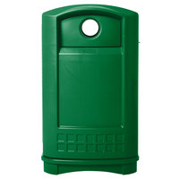 Rubbermaid FG396800DGRN Plaza Green Bottle and Can Recycling Container - 50 Gallon