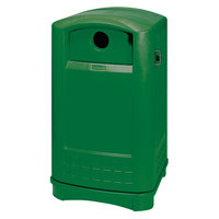 Rubbermaid 3968 Plaza Green Bottle and Can Recycling Container - 50 Gallon (FG396800DGRN)