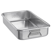 Vollrath 68366 Wear-Ever 11.25 Qt. Aluminum Roasting Pan with Handles (Top) - 19 3/4 inch x 10 7/8 inch x 3 5/8 inch