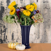 Homer Laughlin 491105 Fiesta Cobalt Blue 9 5/8 inch Medium Vase - 4/Case