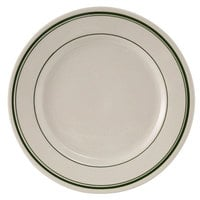 Tuxton TGB-005 Green Bay 5 1/2 inch Wide Rim Rolled Edge China Plate - 36/Case
