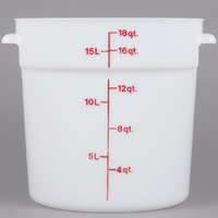 Cambro RFS18148 18 Qt. Round White Food Storage Container