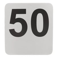 Tablecraft N150 1 to 50 Stainless Steel Table Number