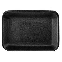 CKF 87802 (#2) Black Foam Meat Tray 8 1/4 inch x 5 3/4 inch x 3/4 inch - 500/Case
