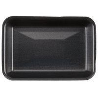 Genpak 1002 (#2) Foam Meat Tray Black 8 1/4 inch x 5 3/4 inch x 1 inch - 500/Case