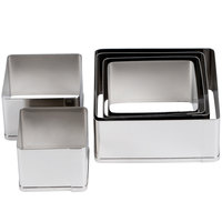 Ateco 5253 6-Piece Stainless Steel Plain Square Cutter Set