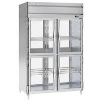 Beverage-Air PRD2-1BHG 52 inch Stainless Steel Glass Half Door Pass-Through Refrigerator