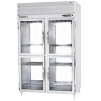 Beverage-Air PRD2-1BHG-LED 52 inch Stainless Steel Glass Half Door Pass-Through Refrigerator