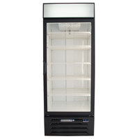 Beverage Air MMR27HC-1-B Black Marketmax Refrigerated Glass Door Merchandiser with LED Lighting - 27 Cu. Ft.