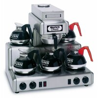 Bunn 20825.0000 RL35 Automatic Stainless Steel 12 Cup Coffee Brewer with 5 Lower Warmers - 120/240V