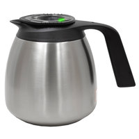 Curtis TFT64 FreshTrac 64 oz. Thermal Stainless Steel Coffee Decanter with Brew Through Lid - 6/Case