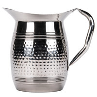 American Metalcraft HMWP97 3 Liter Bell Water Pitcher - Hammered Stainless Steel