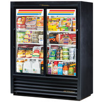 True GDM-41SL-60-HC-LD 47 inch Black Convenience Store Sliding Glass Door Merchandiser