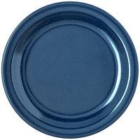 Carlisle 4350335 Dallas Ware 7 1/4 inch Cafe Blue Melamine Plate - 48/Case