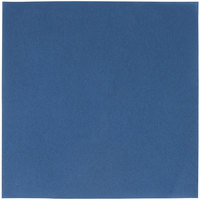 Navy Blue Flat Pack Linen-Like Napkin, 16 inch x 16 inch - Hoffmaster 125042 - 500/Case