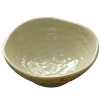 Thunder Group 3703 Gold Orchid 2 oz. Round Melamine Dish Saucer - 12/Case