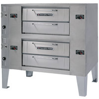 Bakers Pride DS-990 Super Deck Natural Gas Double Deck Gas Pizza Oven - 140,000 BTU