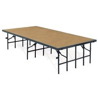 National Public Seating S4824HB Single Height Hardboard Portable Stage - 48 inch x 96 inch x 24 inch