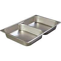 2 1/2 inch Deep Full Sized Standard Weight Stainless Steel Divided Steam Table / Hotel Pan