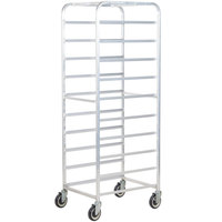 Winholt AL-1810B End Load Aluminum Platter Cart - Ten 18 inch Trays