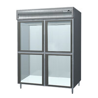 Delfield SAR2S-SLGH 38 Cu. Ft. Two Section Shallow Sliding Glass Half Door Reach In Refrigerator - Specification Line