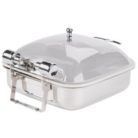 Vollrath 46133 6 Qt. Intrigue Square Induction Chafer with Porcelain Food Pan