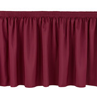 National Public Seating SS8-48 Burgundy Shirred Stage Skirt for 8 inch Stage - 7 inch x 48 inch