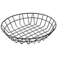 American Metalcraft WIB100 Black Round Wire Basket - 10 inch x 2 inch