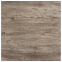Grosfillex 99872176 36 inch x 36 inch Aged Oak Square Molded Melamine Tabletop