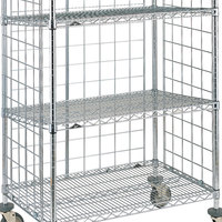 Metro SLT2448NC Super Erecta Chrome Slanted Shelf for AST55MC and AST55DC Shelf Trucks - 24 inch x 48 inch