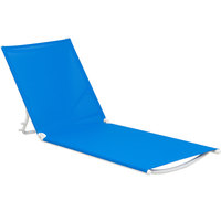 Grosfillex US673006 Blue Replacement Sling for Calypso Stacking Adjustable Resin Chaises in White - 12/Case