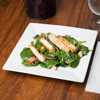 Arcoroc FF194 Square Up 9 inch Porcelain Brunch / Salad Plate by Arc Cardinal - 12/Case
