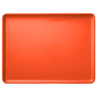 Carlisle 1520LFG018 Customizable 15 inch x 20 inch Glasteel Orange Dietary Fiberglass Tray - 12/Case