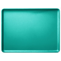 Carlisle 1520LFG051 Customizable 15 inch x 20 inch Glasteel Teal Dietary Fiberglass Tray - 12/Case