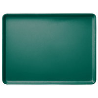 Carlisle 1520LFG010 Customizable 15 inch x 20 inch Glasteel Forest Green Dietary Fiberglass Tray - 12/Case