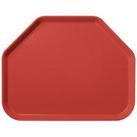 Carlisle 1713FG020 Customizable 14 inch x 18 inch Glasteel Coral Trapezoid Fiberglass Tray - 12/Case