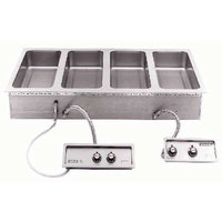 Wells MOD427TDMAF 4 Well 4/3 Size Drop-In Hot Food Well with Drain Manifolds and Autofill - Dual Thermostatic Control Panels