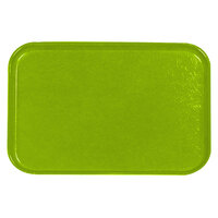 Carlisle 2618FGQ009 Customizable Lime 18 inch x 26 inch Glasteel Display / Bakery Fiberglass Tray - 6/Case