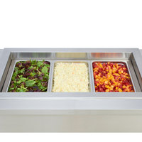 Wells HRCP7300SLST Drop In Slim Line Cold / Hot Three Pan Slope Top Dual Temp Food Well