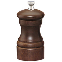 Chef Specialties 04152 Professional Series 4 inch Customizable Capstan Walnut Salt Mill