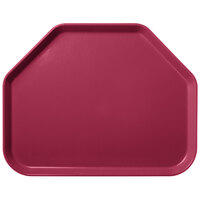 Carlisle 1713FG054 Customizable 14 inch x 18 inch Glasteel Mulberry Trapezoid Fiberglass Tray - 12/Case