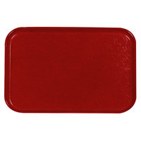 Carlisle 2618FGQ017 Customizable Red 18 inch x 26 inch Glasteel Display / Bakery Fiberglass Tray - 6 / Case