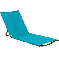 Grosfillex US733241 Turquoise Replacement Sling for Calypso Stacking Adjustable Resin Chaises in Bronze - 12/Case