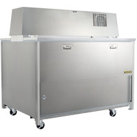 Traulsen RMC58S4 58 inch Single Sided School Milk Cooler with 4 inch Casters