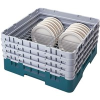 Cambro CRP181112414 Teal Full Size PlateSafe Camrack 11 1/2-12 1/2 inch