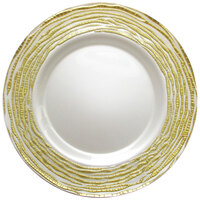 The Jay Companies 13 inch Round Arizona Gold Glass Charger Plate